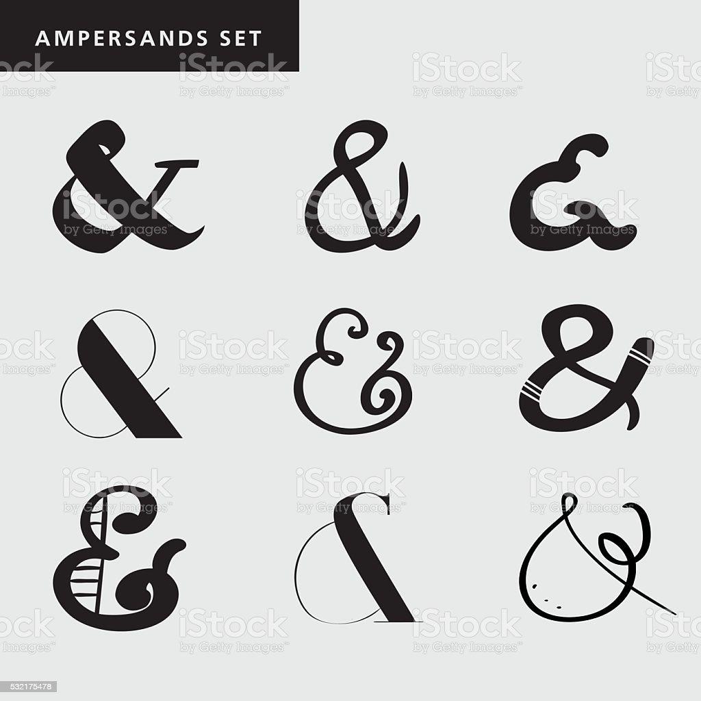 Ilustración De Conjunto De Decoración Símbolos Para Cartas