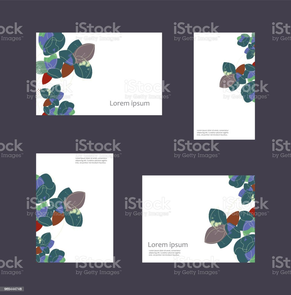 Set of decorative business cards royalty-free set of decorative business cards stock vector art & more images of abstract