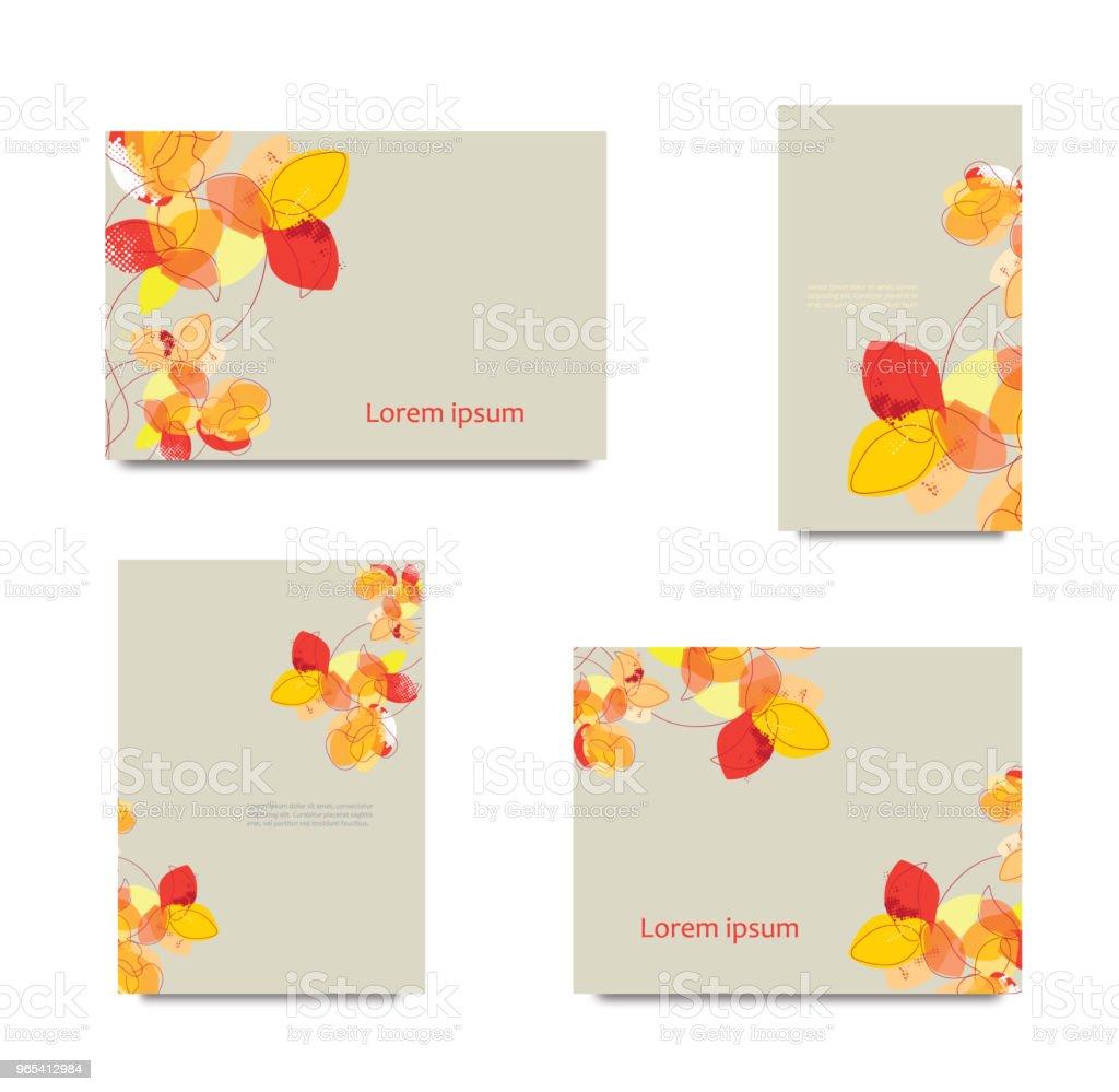 Set of decorative cards set of decorative cards - stockowe grafiki wektorowe i więcej obrazów abstrakcja royalty-free