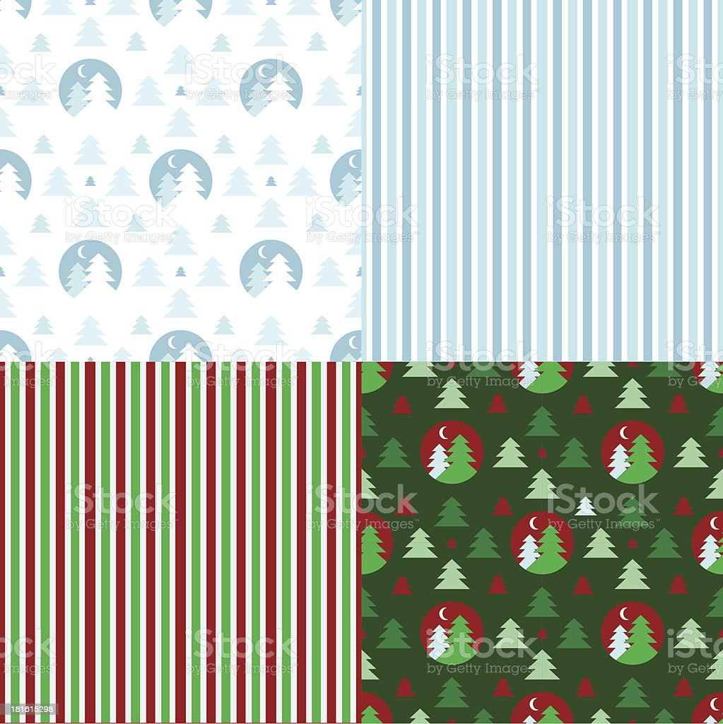 Set of decorative christmas patterns royalty-free set of decorative christmas patterns stock vector art & more images of abstract
