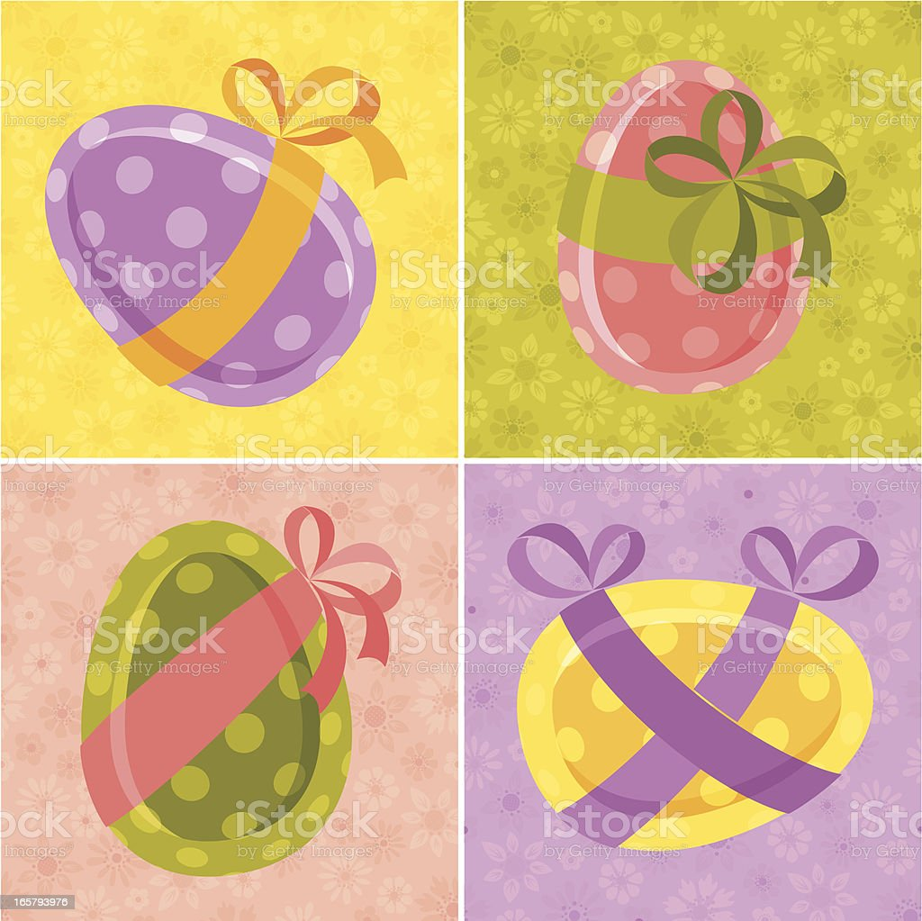 Set of Decorative Easter Eggs royalty-free set of decorative easter eggs stock vector art & more images of art and craft