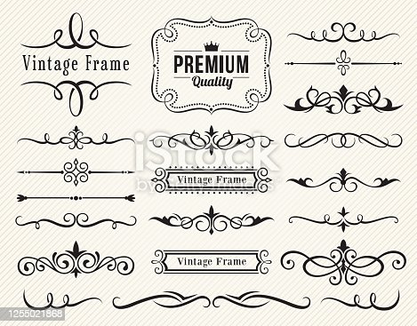 Set of vector decorative elements for design