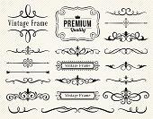 Set of vector decorative elements for design