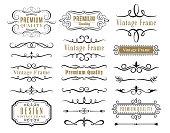 Set of vector decorative elements for design.