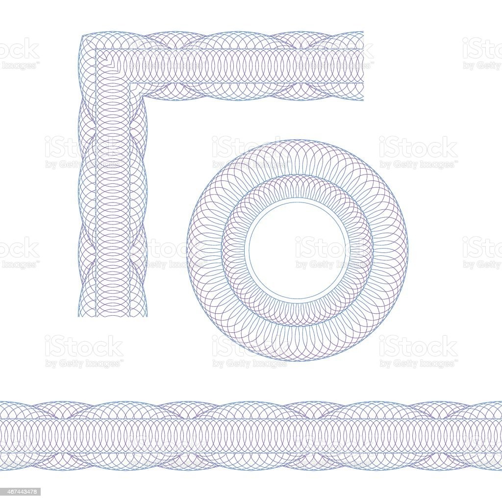 Set of decorative elements vector art illustration