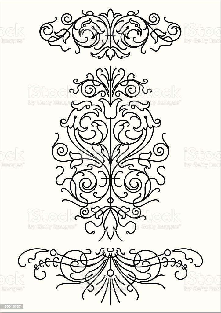 set of decorative elements (vector) royalty-free set of decorative elements stock vector art & more images of abstract