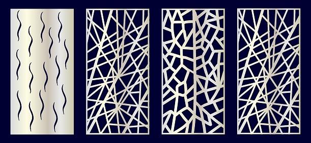 Set of Decorative laser cut panels