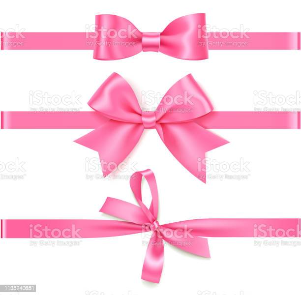 Set of decorative pink bow with horizontal rose ribbon isolated on vector id1135240851?b=1&k=6&m=1135240851&s=612x612&h=ar c2b4lzkxo1vif5htk2kufl nrs2z1ethe8k5gi48=