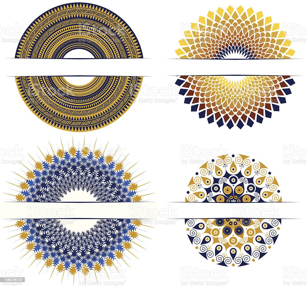 set of decorative round design elements royalty-free set of decorative round design elements stock vector art & more images of abstract