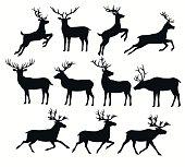 鹿のシルエット