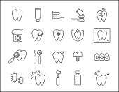 Set of Dentist Icons.