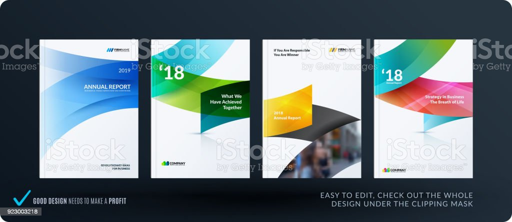 Set of design brochure, abstract annual report, horizontal cover royalty-free set of design brochure abstract annual report horizontal cover stock illustration - download image now
