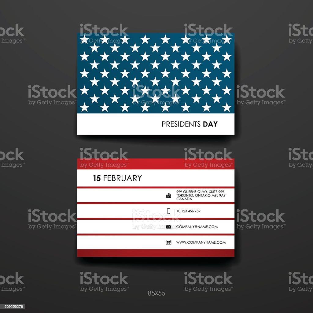Conjunto De Plantilla De Diseño De Tarjeta De Día De Presidentes ...