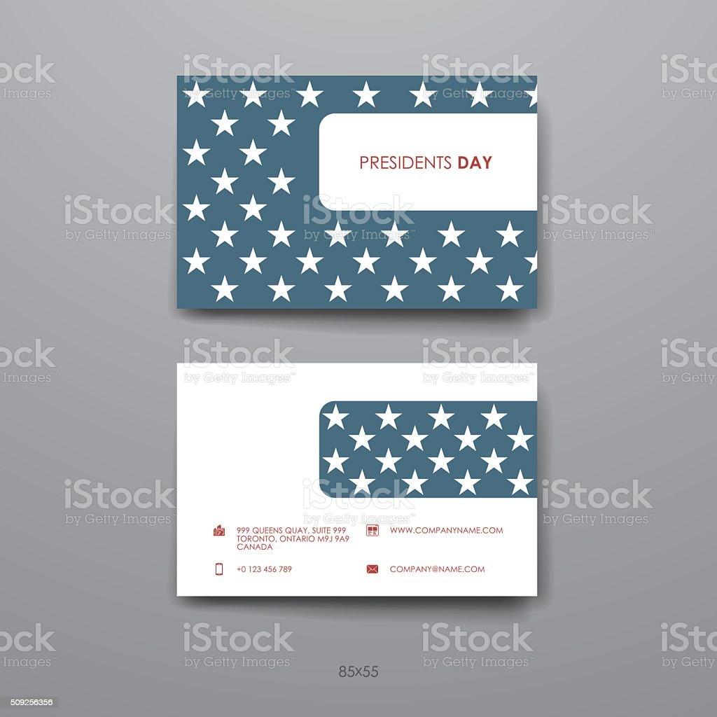 Ensemble De Conception Modle Carte Visite Pour Le PresidentsDay