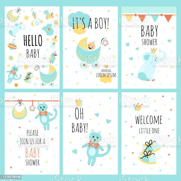Set of design cards with hand lettering for baby shower cute funny vector id1175778145?b=1&k=6&m=1175778145&s=612x612&h=63gguatm4v9syy fuzodegr5wev ioijhxzlnivtwek=