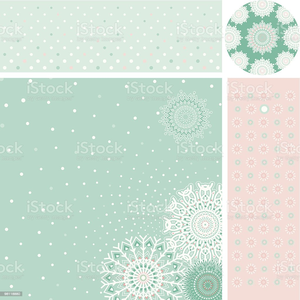 Set of design elemants for Christmas (New Year) royalty-free set of design elemants for christmas stock vector art & more images of backgrounds