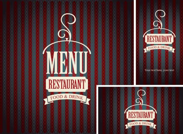 illustrations, cliparts, dessins animés et icônes de ensemble d'éléments de conception pour un café ou un restaurant - logos restauration