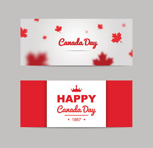 set of design elements for canada day 1st of july. - canada day stock illustrations