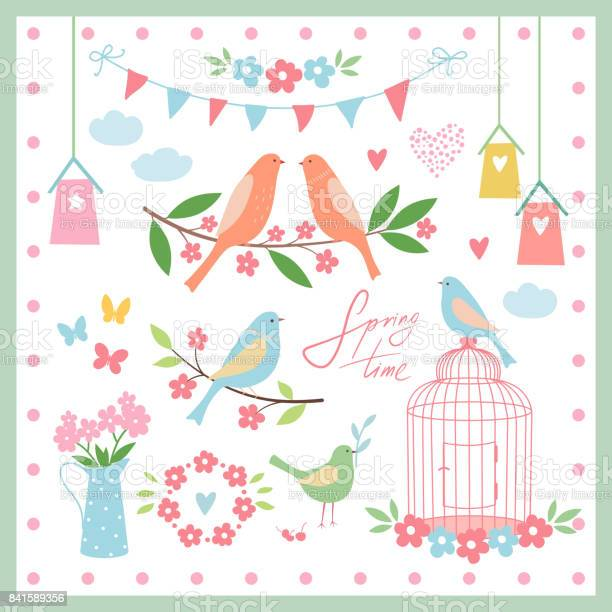 Set of design elements for springvector illustration vector id841589356?b=1&k=6&m=841589356&s=612x612&h=fm pdi vbagkulsjktdyb5bob6ikydlz7kgen2gywxe=
