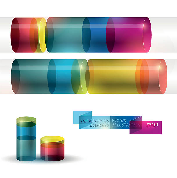 Set of design elements Set of design elements cylinder stock illustrations
