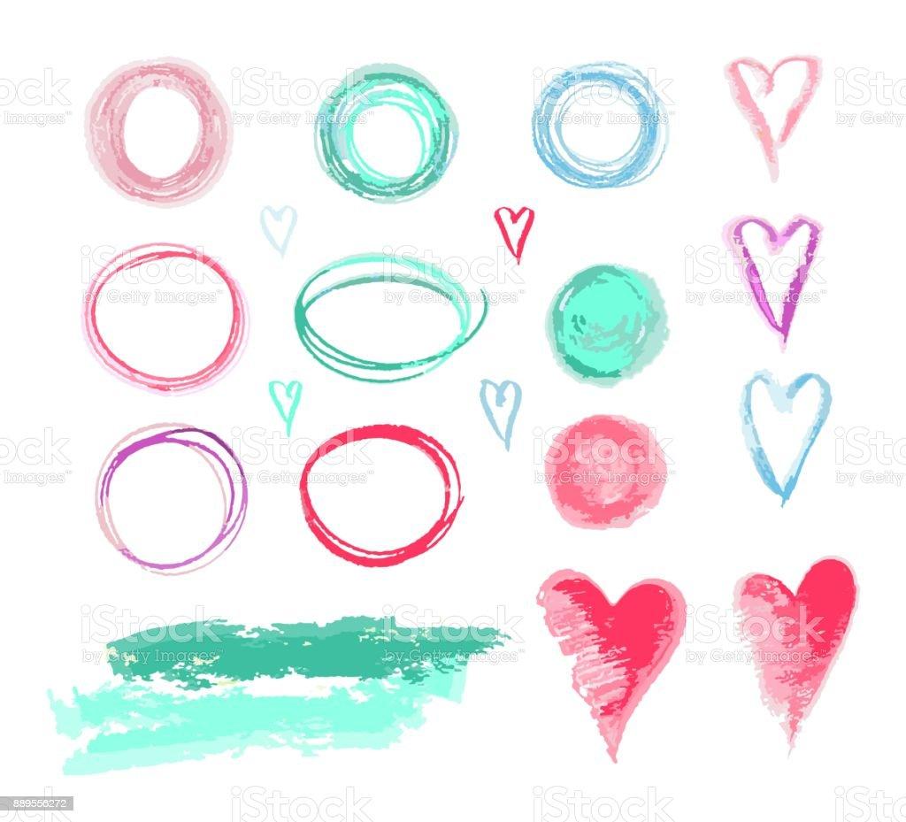 Set of  design elements vector art illustration