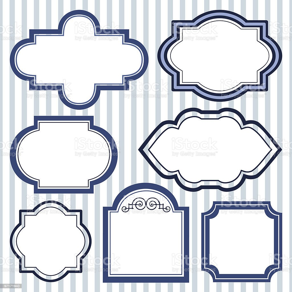 Set of design frames vector art illustration