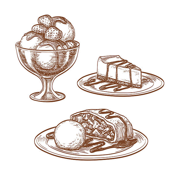 Set of desserts. – Vektorgrafik