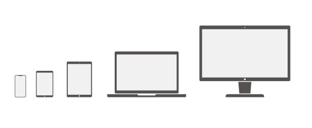 satz von gerätesymbolen. gerätesymbol.computer-symbol. laptop-symbol. smartphone-symbol.  computer-bildschirm, laptop, tablet-pc, smartphone, elektronisches buch - stock vektor-illustration - tablet mit displayinhalt stock-grafiken, -clipart, -cartoons und -symbole