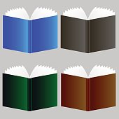 Set of Different Book Icons