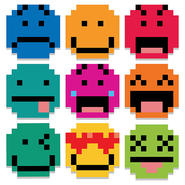 Royalty Free Pixelated Face Clip Art, Vector Images