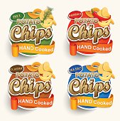 Set of different chips.