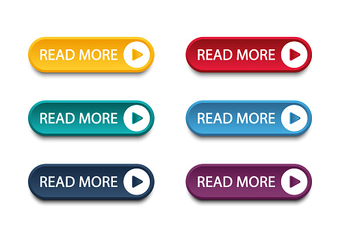Set of different colorful buttons. Collection of modern buttons for website and user interface. Web icons.