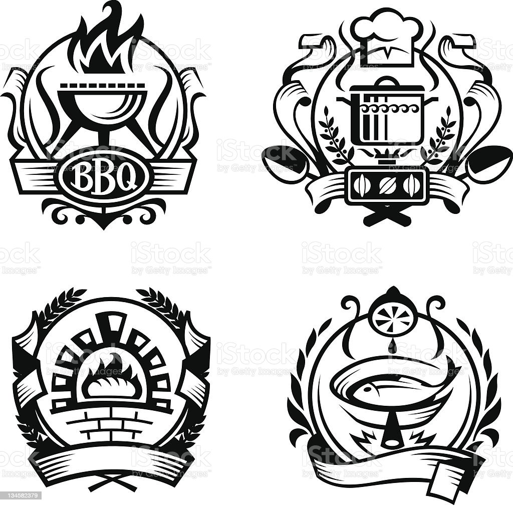 set of different cooking banners royalty-free set of different cooking banners stock vector art & more images of barbecue