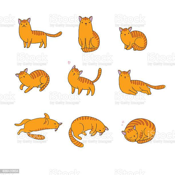 Set of different doodle poses cat pets vector id636420834?b=1&k=6&m=636420834&s=612x612&h=urmnybibnv0ct2betcva6pk8nrtgevoeqzumm7ofoms=