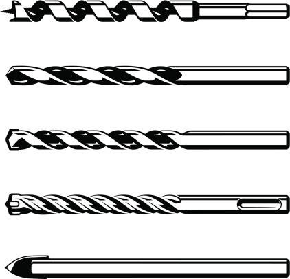 Set of different drills