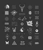 Set of different elements and shapes
