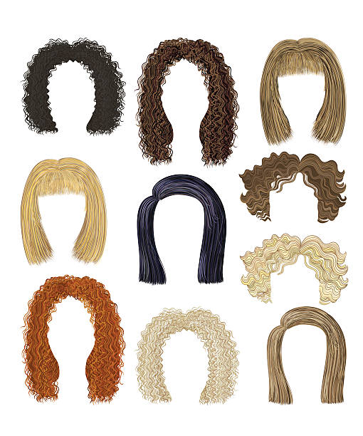 set of different hairstyles. hairs - redhead stock illustrations, clip art, cartoons, & icons