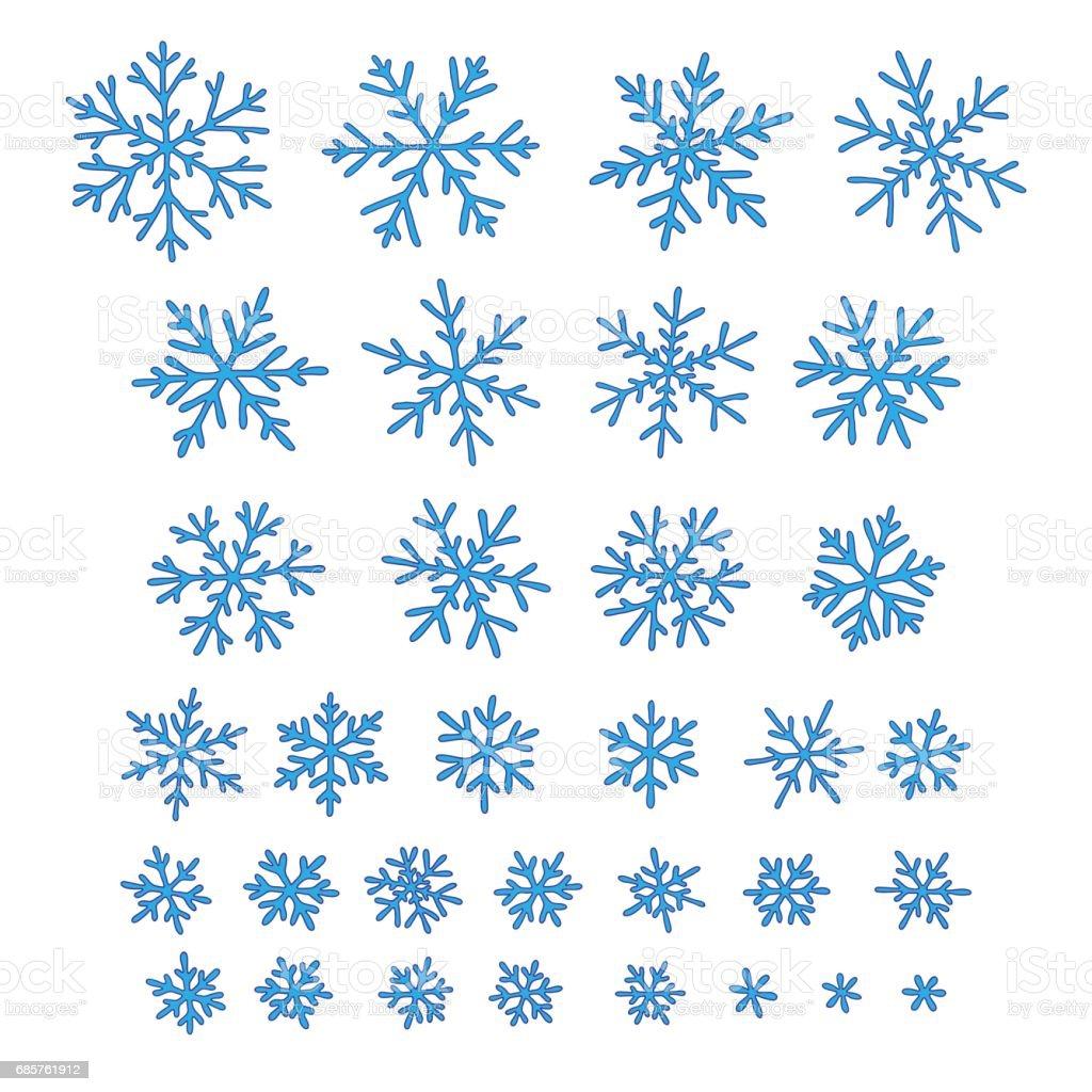 Set of different hand-drawn snowflakes set of different handdrawn snowflakes - stockowe grafiki wektorowe i więcej obrazów abstrakcja royalty-free