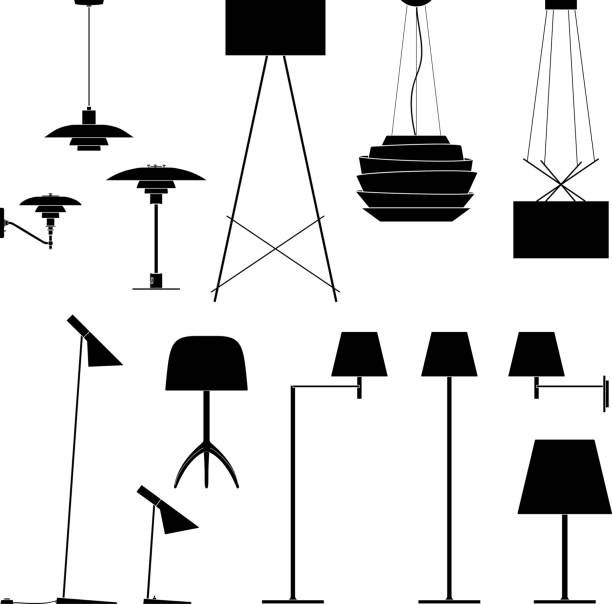 Royalty Free Desk Lamp Clip Art Vector Images: Royalty Free Electric Lamp Clip Art, Vector Images