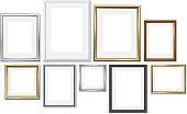 Gold, silver, wood. Vector illustration, EPS 10