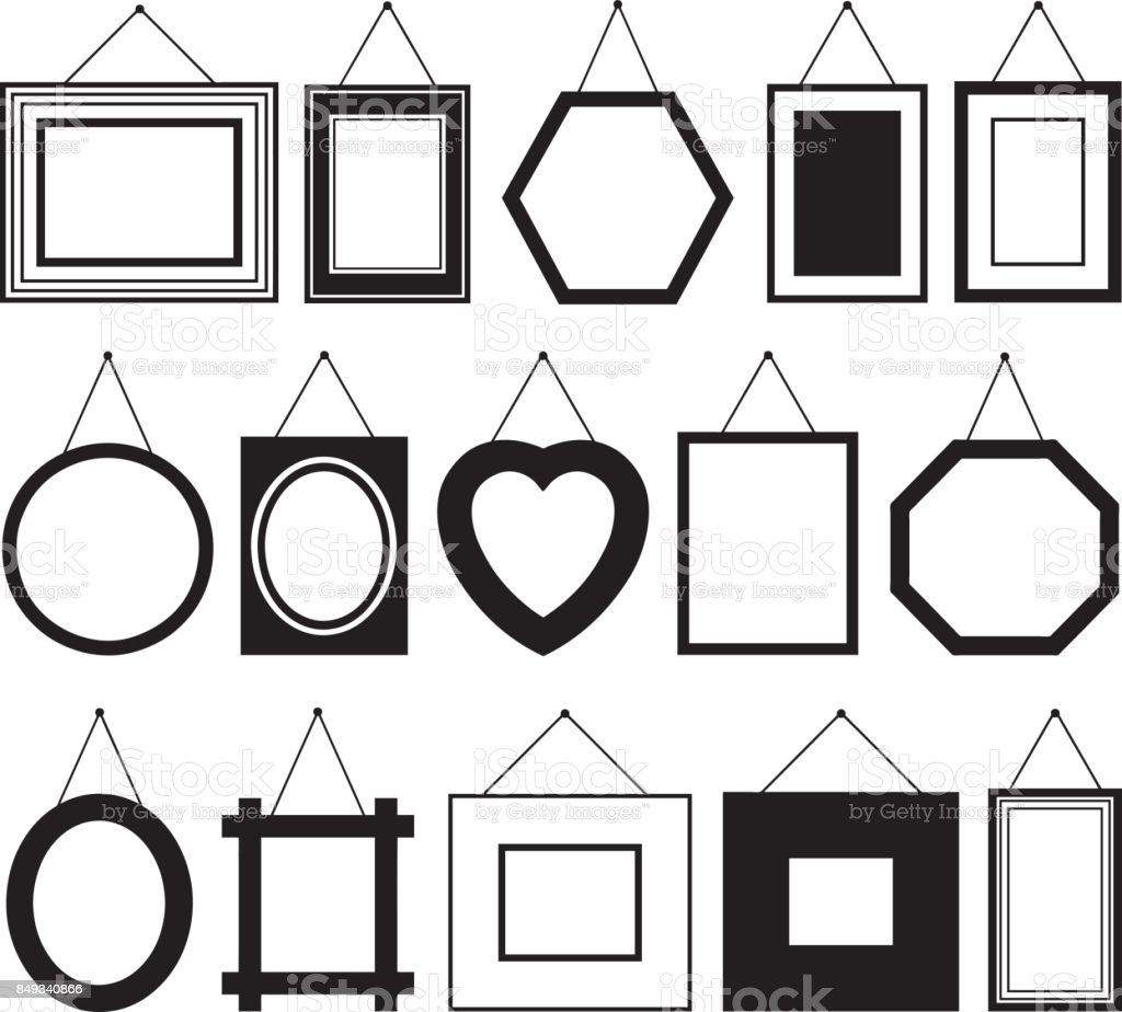 Set Of Different Picture Frames Stock Vector Art & More Images of ...