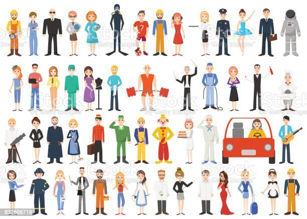 Set of different professions people isolated on white background vector id832866716?b=1&k=6&m=832866716&s=612x612&h=5eujql9wumrkci8mrds12yn8f0xh9e7qhvsji1fd 8w=