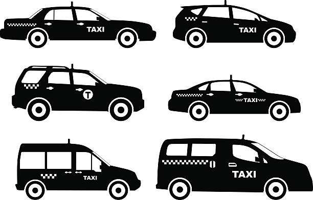 Royalty Free Black Taxi Clip Art, Vector Images ...