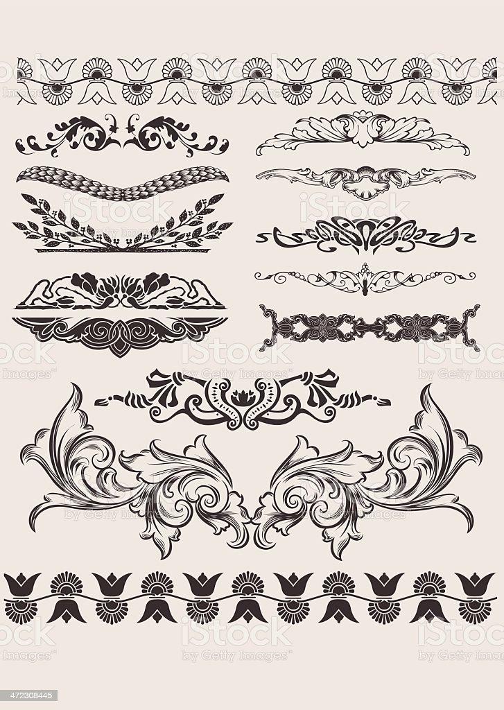 Set Of Different Style Design Elements vector art illustration