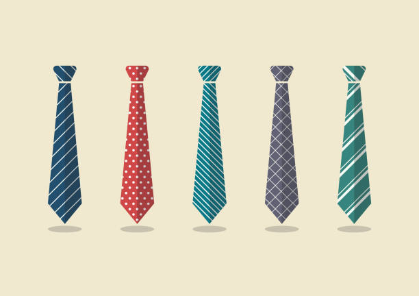 set of different ties - tie stock illustrations, clip art, cartoons, & icons