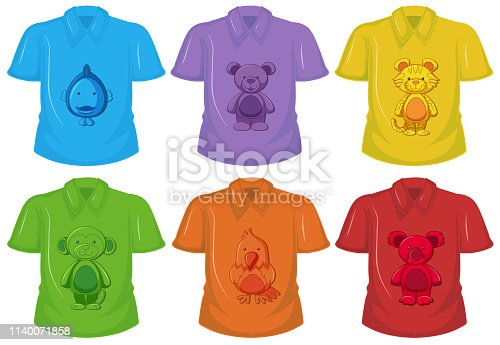 Set of different T-shirt