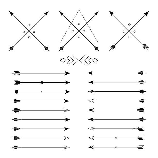 Conjunto de flechas vector diferentes - ilustración de arte vectorial