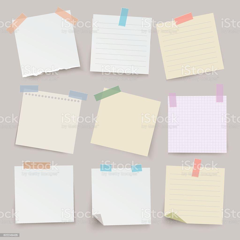 Vecteur série de divers documents de la note. vecteur série de divers documents de la note vecteurs libres de droits et plus d'images vectorielles de activité avec mouvement libre de droits