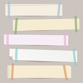 Set of different vector paper stripes.