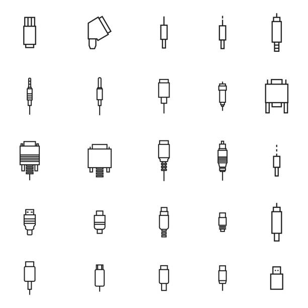 Usb Cable Illustrations, Royalty-Free Vector Graphics